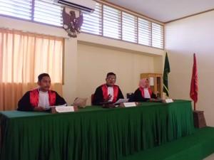 Majelis Hakim mendengarkan keterangan terdakwa