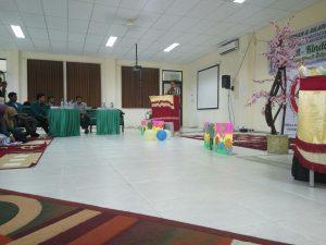 Penyampaian kata sambutan dari Pembimbing LDFK Al-Kindi Unaya