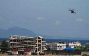 Bangunan escape building di Desa Deah Tengoh, saat berlangsungnya tsunami drill, 2 November 2008.